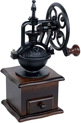 Manual Coffee Grinder Vintage Antique Wooden Hand Grinder Coffee Grinder Roller,Best For Drip Coffee, Espresso, French Press, Cold & Turkish Brew