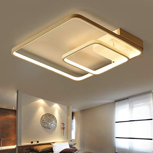 BYDXZ Moderne LED-Deckenleuchte Zeitgenössisches minimalistisches Quadrat Weiß Aluminium Metall Deckenleuchte Wohnzimmer Esszimmer Schlafzimmer Studie Dekorative Deckenbeleuchtung Kronleuchter D45cm *