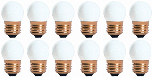 25 Pack 7.5 Watt S11 Medium Base 130 Volt 2500 Hour Ceramic White Sign or Indicator Lightbulb