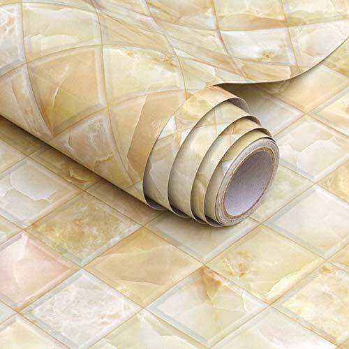 Fácil de decorar Fondos de pantalla populares Mármol de PVC impermeable del papel pintado auto-adhesivo de madera del grano de vinilo Contacto papel de la sala de estar Escritorio Armario Inicio pelíc