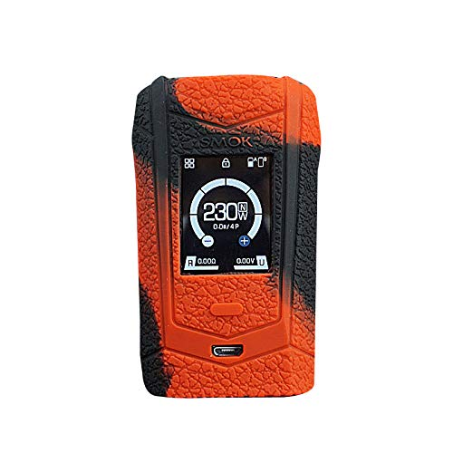 DSC-Mart Texture Silicone Case for SMOK Species 230W Touch Screen TC Kit, Anti-Slip Cover Sleeve Wrap Fits Smok Species (BlackRed)