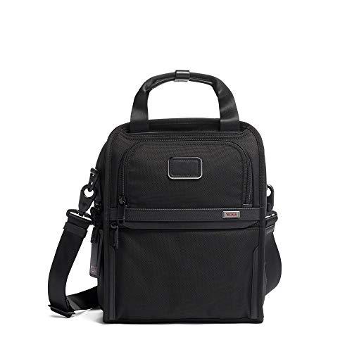 TUMI - Alpha 3 Medium Travel Tote - Satchel Crossbody Bag for Men and Women - Black