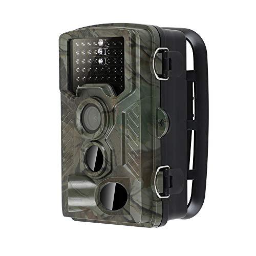 """LMYMX Wildkamera Jagd 16MP 1080P, Mini üBerwachungskamera mit Aufzeichnung, 2.4"""" LCD IP66 Wasserdicht Gartenkamera 120° Weitwinkel Vision, für Tierbeobachtung Haussicherheitsüberwachung"""