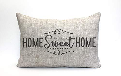 Tamengi Home Sweet Home - Funda de almohada, funda de almohada, funda de almohada con palabras, funda de almohada, funda de almohada con frase 'Home Sweet Home' 1'