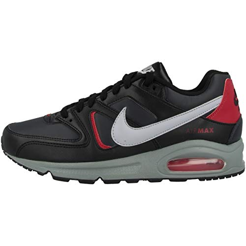 Nike Air Max Command, Scarpa da Corsa Uomo, Black Wolf Grey Anthracite Noble Red, 40.5 EU