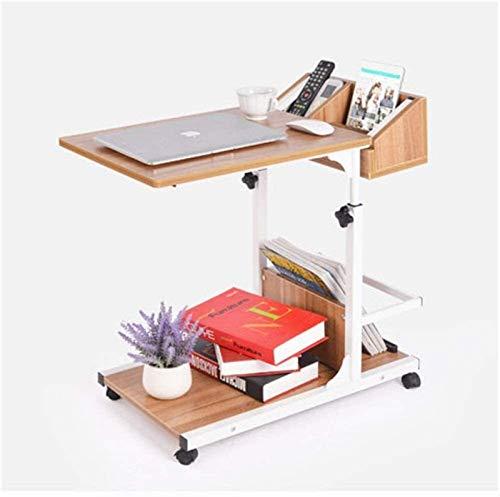 ZXNRTU Diseño Simple Mesa de Escritorio de la computadora portátil de Las Ruedas Bed Soporte portátil de Noche Sofá Reading Hospital Ajustable multifunción pequeña Mesa de Centro for Sala de Estar