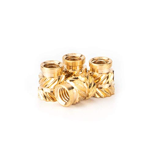 VIBIRIT 100pcs M3 Female Thread Brass Knurled Threaded Insert Embedment Nut Assortment Kit for 3D Printing
