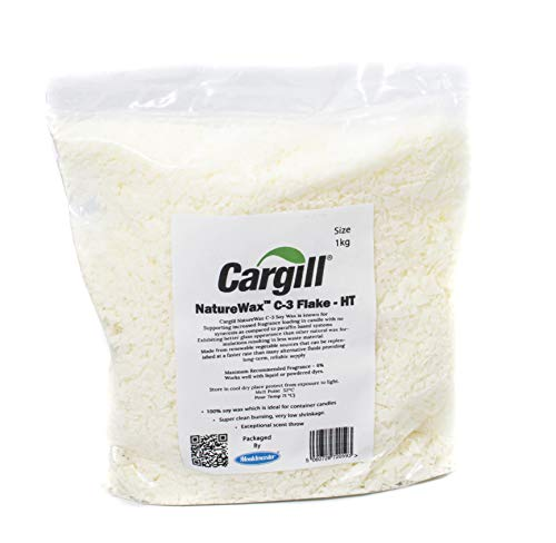 CARGILL C3 Soy Wax 1 Kg, White, 1kg