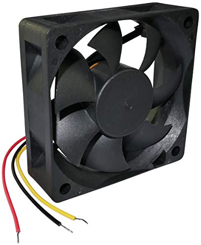 AERZETIX - Ventilador Axial de Refrigeración - para Caja de Ordenador PC - Vapo - Termoplástico - 24V DC - 60x60x20mm – 38.87m3/h - 5000rpm - 0.055A - 1.32W - 33.5dBA - 3 Cables - C46984