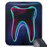 Diente Que Brilla intensamente Azul del Dentista Alfombrillas de ratón