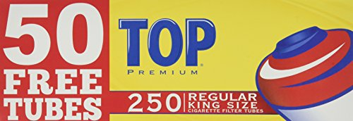 Top Regular Full Flavor Red RYO Cigarette Tubes - King Size - 250ct Box (4 Boxes)