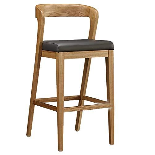 YXJBD hoge stoel massief houten barkruk met rugleuning armleuning bekleed in Chinese stijl blok barkruk hoge stoel