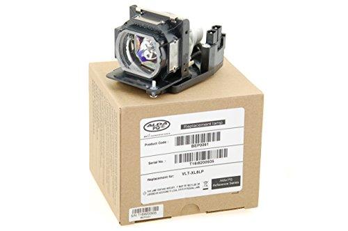 Alda PQ Referenz, Lampe ersetzt VLT-XL8LP, ZU1240 04 4010 für LIESEGANG DV480W, DV481, DV483 Projektoren, Beamerlampe mit Gehäuse