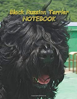 Black Russian Terrier NOTEBOOK: notebooks and journals 110 pages (8.5