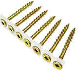 B&C Eagle CS8X2YZ No 2 Square Drive 1000-Count 8 by 2-Inch Yellow Zinc Collated Subfloor Screws