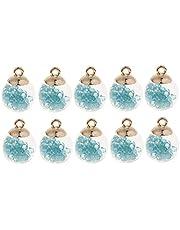 IPOTCH 10st 16mm glazen bal bedeltjes kleine hangers met kleine glanzende strass kralen binnen voor kettingen/armbanden/oorbellen maken vindingen sieraden DIY ambacht
