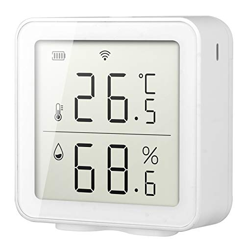 Katigan WiFi Temperature Humidity Monitor Indoor Hygrometer Thermometer,Works with Alexa Home