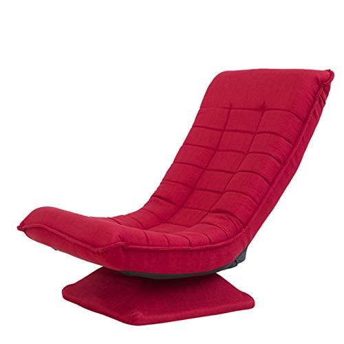 Fauteuil inclinable et pliable, chaise de jeu pivotante à 360 degrés, réglable 3 positions, jeu, lecture, TV, détente, pour adultes - Charge maximale : 150 kg