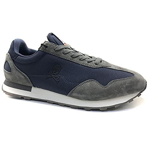 SCALPERS PRAX, Sneakers, para Hombre, Color Navy - Piel/Textil Talla: 41