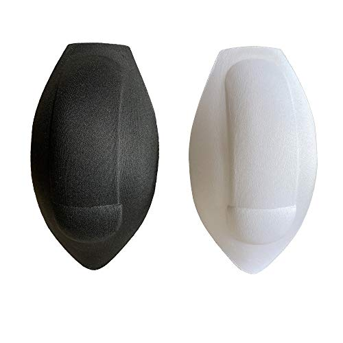 DESMIIT Men's Sponge 3D Pad Fun Sexy Inner for Both Swimwear&Underwear Inside 2pcs Pack White1+Black1