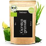Bio Gerstengrassaft Pulver ohne Zusatzstoffe, rein pflanzlich | Superfood laborgeprüft, vegan, proteinreich ideal für Smoothie Bowls | Gerstengrassaft 100g aus USA