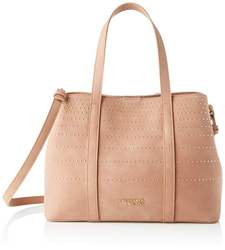 Trussardi Jeans, ANITA TOTE MD ECOLEATHER STRIP Donna, P073, NR