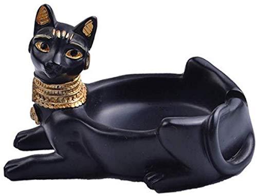 AMITD Egyptische kat gevormde asbak handwerk huis hotel decoratie vuur veilig roken accessoires heren geschenken Egyptische ornamenten