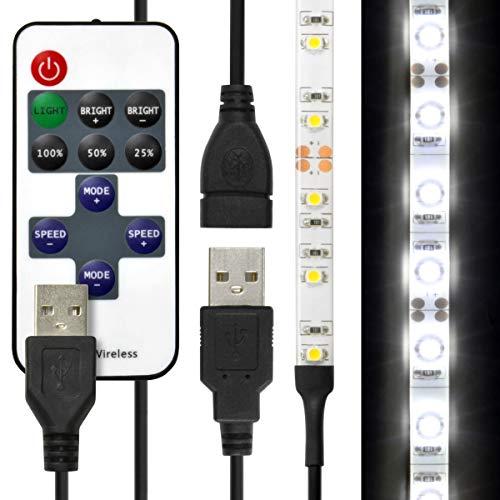 LEDテープライト 貼レルヤ USB (昼光色) 50cm 30灯 両面テープで好きな場所に貼り付け可能 ハサミでカットして長さを変えられます ショーケースなど店舗用照明に 6000K JTT Online LEDTLHAUDL05M