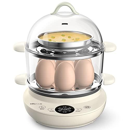 ZHHAOXINPA Vapores para Cocinar Hervidor De Huevos Cocedor Escalfado Suave Duro Hogar Vaporizador Doble De Huevos De Acero Inoxidable Cocina Eléctrica para Vegetales Vaporizador De Alimentos