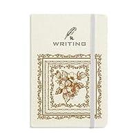 バロック芸術の花のフレームは、現代のパターン ノートブッククラシックジャーナル日記A 5を書く