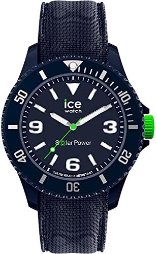 Ice-Watch Ice Sixty Nine Dark Blue Solar(Azul), Reloj para Hombre con Correa de Silicona, 019545, Medio