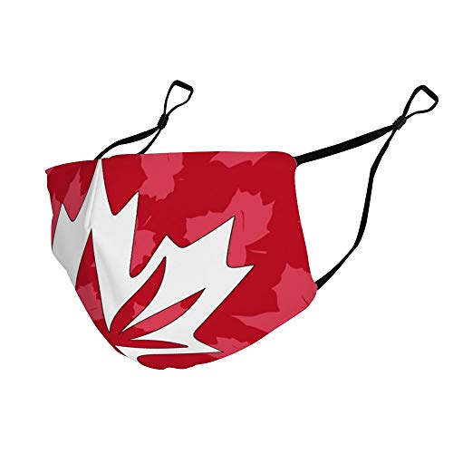 Red Canada Maple Leaves Flag Dustproof, Comfortable, Washable and Reusable, Unisex Breathing Cover.