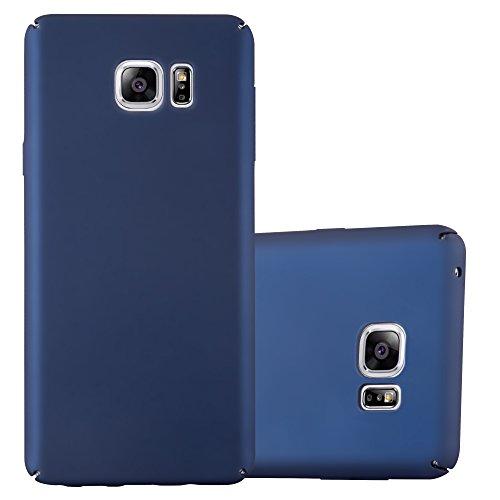 Cadorabo Funda para Samsung Galaxy Note 5 en Metal Azul - Cubierta Protección de Plástico Duro Super Delgada e Inflexible con Antichoque - Case Cover Carcasa Protectora Ligera