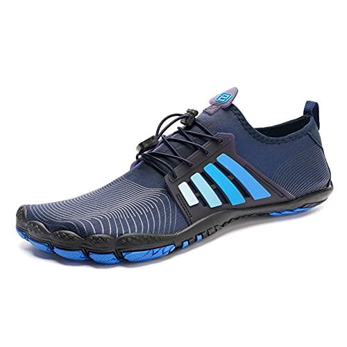 IceUnicorn Zapatos descalzos para hombre y mujer, zapatos de trail o playa, zapatos de natación, Azul 26., 46 EU