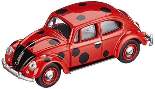Schuco 452016900 VW Käfer Marienkäfer 1:64 452016900-VW, Modellauto, Modellfahrzeug, rot, schwarz