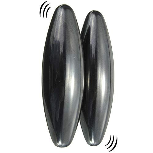 2 Large Powerful Rattle Magnets Spinning Buzzing Snake Eggs, Hematite...