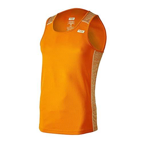 42K RUNNING - Camiseta técnica Tirantes 42k XION2 Summer para Hombre Fluor Orange