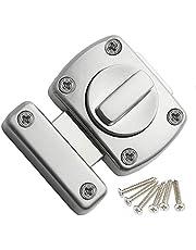 Extra deurslot, deurvergrendeling, badkamer, roestvrij staal, draaigreep, vergrendelingsslot, kast, deur, slot, boutvergrendeling, klein diefstalbeveiliging, voor verschillende deuren