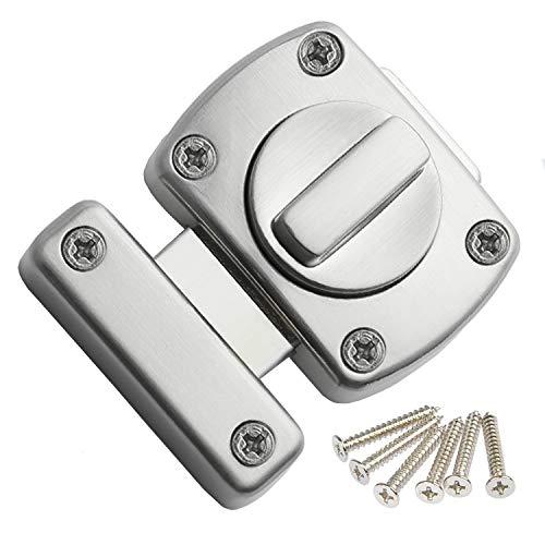 Extra deurslot, deurgrendel, badkamer latch roestvrij staal draaigreep grendelslot kast deur grendel boutgrendel deurgrendel kleine diefstalbeveiliging lock, van toepassing op verschillende deuren