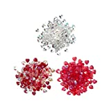 Buttons Galore Sparkletz Embellishments, Iridescent Diamonds, Half Pearls, Sequins & Seed Beads for Crafts, Scrapbooks, Card Making & Shaker Crafts-Hearts-30 Grams Total