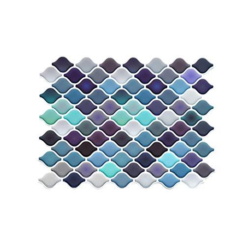 Exnemel Adhesivo para Azulejos, Azulejos De Mosaico Papel Pintado para Baño Y Cocina PVC Decoración De Azulejos En El Baño (1 pcs)