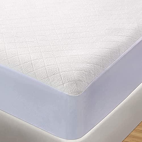 BedStory - Protector de colchón impermeable, fibra de bambú, transpirable,...