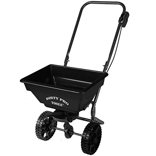dirty pro tools™ 55 lbs Professional rotary spreader lawn fertiliser...