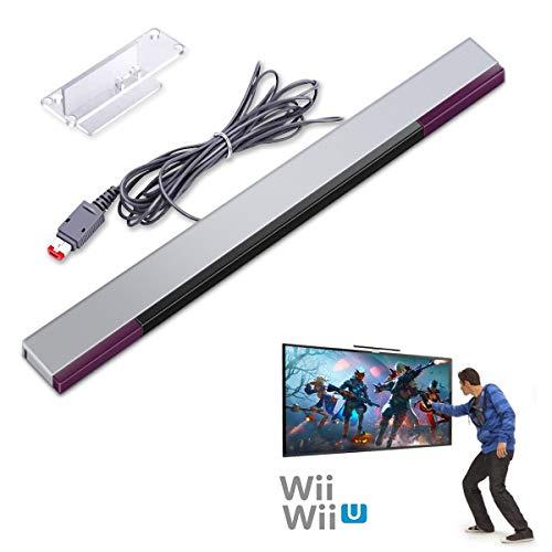Wii Sensor Bar,Wii Sensorleiste für Wii/Wii U,6amLifestyle Infrarot-Sensorleiste für Nintendo Wii und Wii U Konsole
