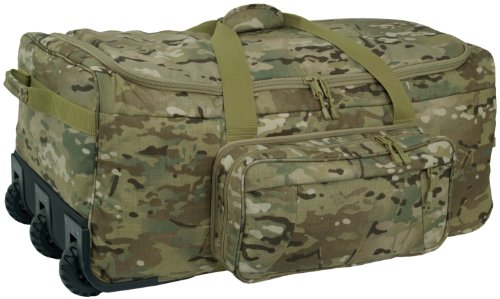 Mercury Tactical Gear Code Alpha Mini Monster Wheeled Deployment Bag Multicam, Multi Cam, One Size
