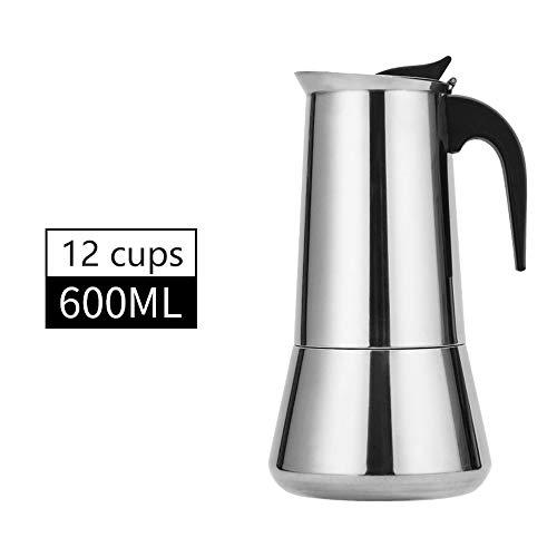 XINGPE Máquina de café espresso estufa, taza de café Moka de 2/4/6/9/12, cafetera de percolación italiana, cafetera clásica de café Moka, para el hogar, la oficina y el café