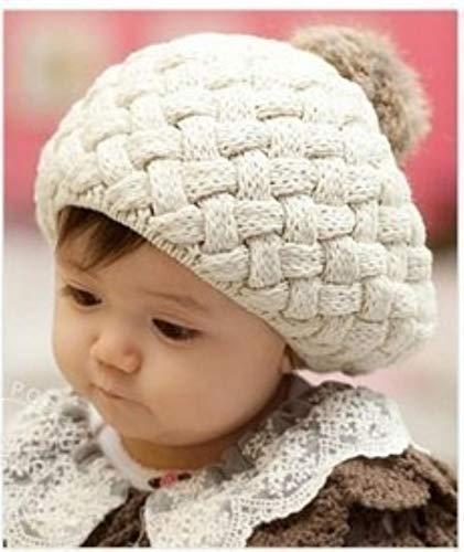 allforyou 2018 New Baby Winter Sombrero de Punto Ganchillo Bebé Bereet Chica Gorra para niños Algodón Casón Cálido Lindo Cálido Niño Beanie Unisex