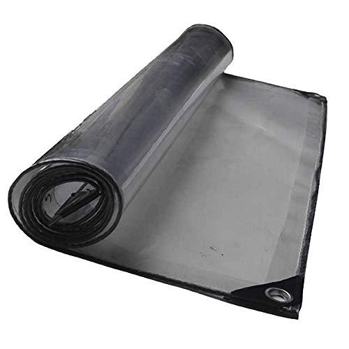 YINUO Cobertor transparente a prueba de lluvia Paño grueso Sol Habitación Planta Cobertizo de lona transparente Aire acondicionado Lavado de autos Cuarto Cortina transparente (Size : 1.13×2m)