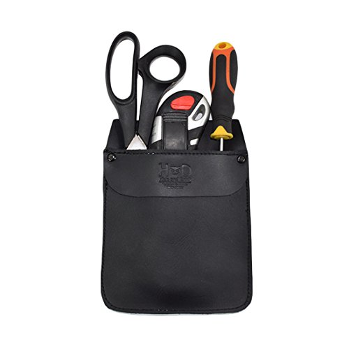 Durable Leather Work Pocket Organizer for Tools/Pens Office amp Work Essentials Handmade by Hide amp Drink :: Charcoal Black