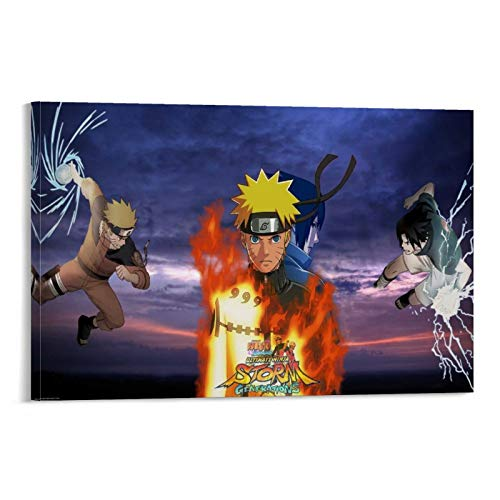 WUSOP Naruto Shippuden Ultimate Ninja Storm Generations Póster pintura decorativa lienzo pared sala de estar póster dormitorio pintura 16 x 24 pulgadas (40 x 60 cm)